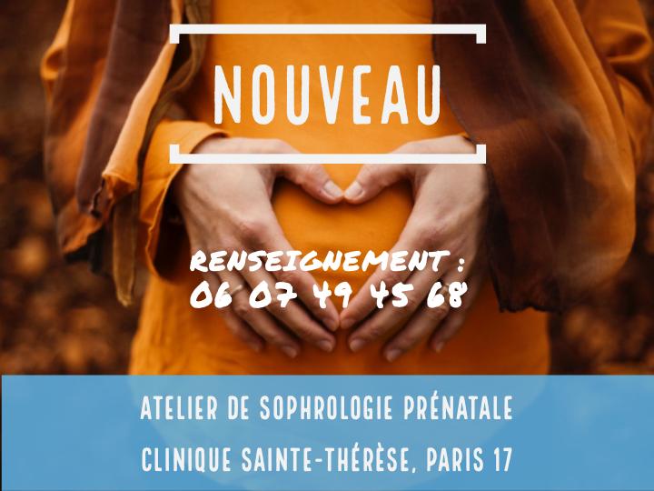 Atelier de sophrologie périnatale à la Clinique Sainte-Thérèe